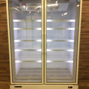 Master Bilt Two Section Glass Door Freezer
