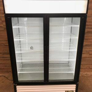 True Rear Load Two-Section Glass Door Merchandiser