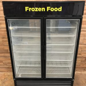 "TRUE 54"" Two-Section Glass Door Display Freezer"