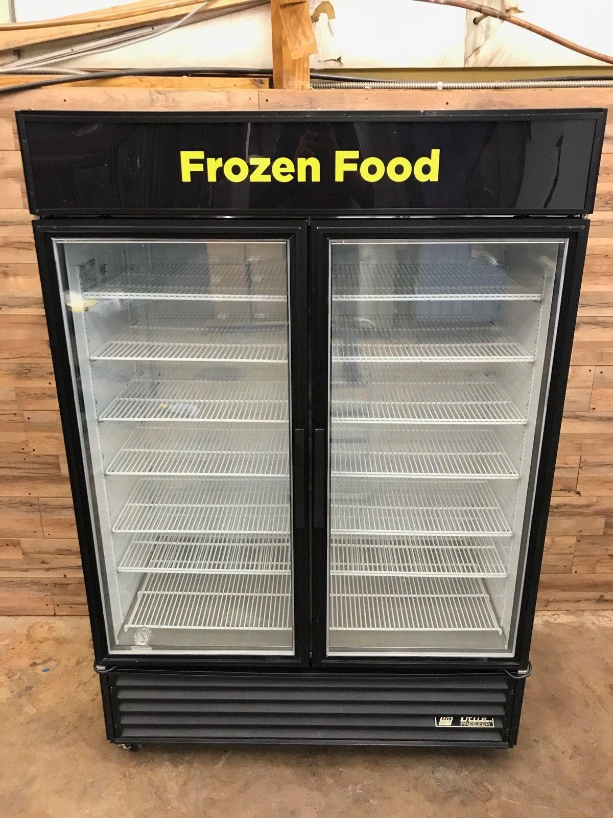 """TRUE 54"""" Two-Section Glass Door Display Freezer"""