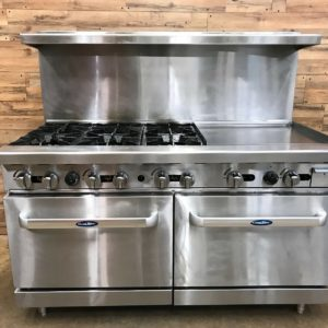Atosa Range, 6 burner, Griddle Double Oven