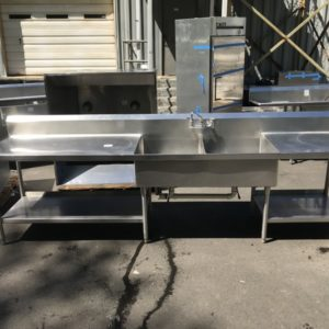 Eagle Group Stainless Steel Two Compartment Commercial Sink