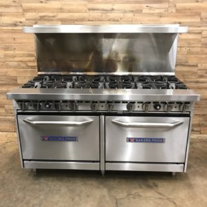 "Bakers Pride Natural Gas 10 Burner Range w/ Standard 26"" Ovens"