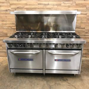 """Bakers Pride Natural Gas 10 Burner Range w/ Standard 26"""" Ovens"""