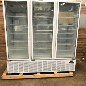 3-Section Display Reach-In Freezer w/ Swing Doors