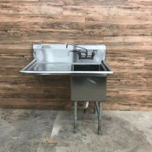 Serv-Ware 1 Compartment Stainless Steel Sink with Left Drainboard