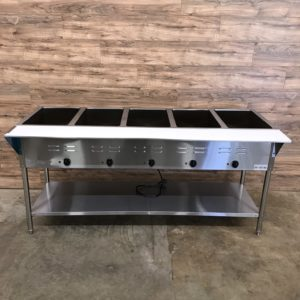 ServIt Five Pan Open Well Electric Steam Table
