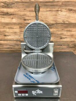 Single Waffle Maker w/ Aluminum Grids