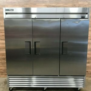 """True 78"""" 3-Section Reach-In Freezer, Stainless Steel"""