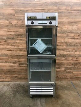 True 1-Section Commercial Refrigerator Freezer, Glass Doors