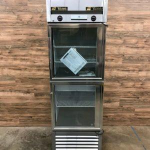 True 1-Section Commercial Refrigerator Freezer, Glass Doors