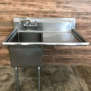 John Boos 1 Compartment Sink w/ Right Drainboard, Stainless Steel