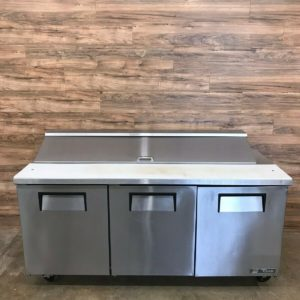 "72"" Triple Door Refrigerated Sandwich Prep Table"