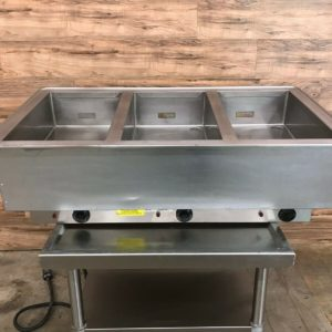 3 Unit Hot Well Drop-In Food Warmer
