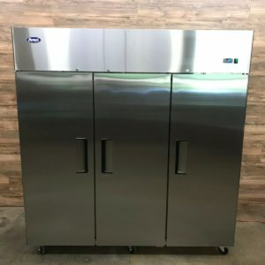 3-Section Solid Door T-Series Reach-In Vertical Cooler