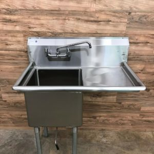 Serv-Ware 1-Compartment Economy Sink w/ Right Drainboard