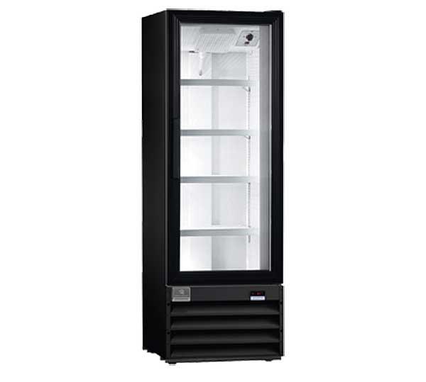 Kelvinator Commercial Merchandiser Refrigerator, 10 cu.ft - 1 Glass Door, Black
