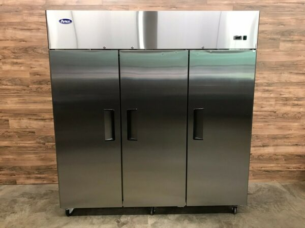 2019 Atosa MBF8003 3-Door Upright Freezer, Stainless Steel