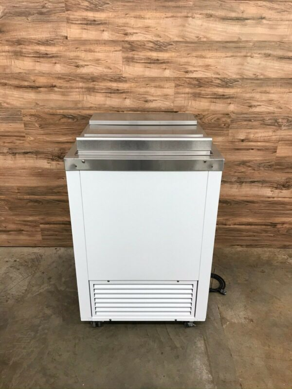 Ice Cream Dipping Cabinet w/ Stainless Steel Slide Top Lid