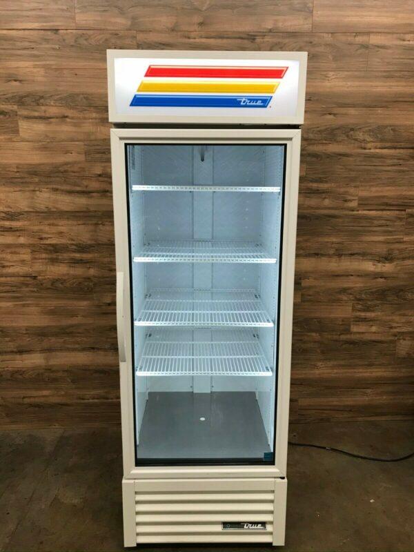 True 1-Section Glass Door Merchandiser Refrigerator