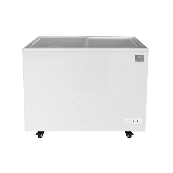 Mobile Ice Cream Freezer w/ Wire Storage Basket
