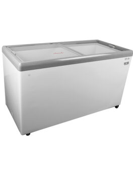 Kelvinator Commercial Mobile Ice Cream Freezer w/ Wire Storage Basket, 14.6 Cu. Ft.