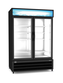 "54"" Two Section Display Freezer w/ Swing Doors"