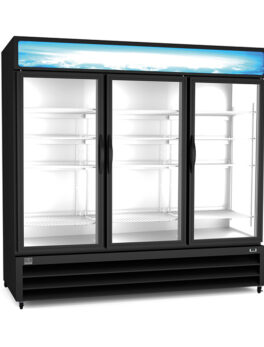 "Kelvinator Commercial KCHGM72F 81"" Three Section Display Freezer"