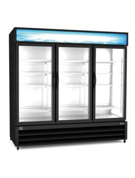 """Kelvinator Commercial 81"""" Three Section Glass Door Merchandiser"""