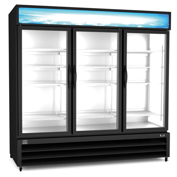 Kelvinator 3 Glass Door Merchandiser Refrigerator