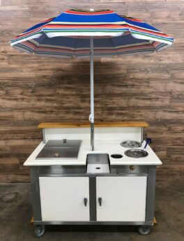 Umbrella Station/ Mobile Serving Cart