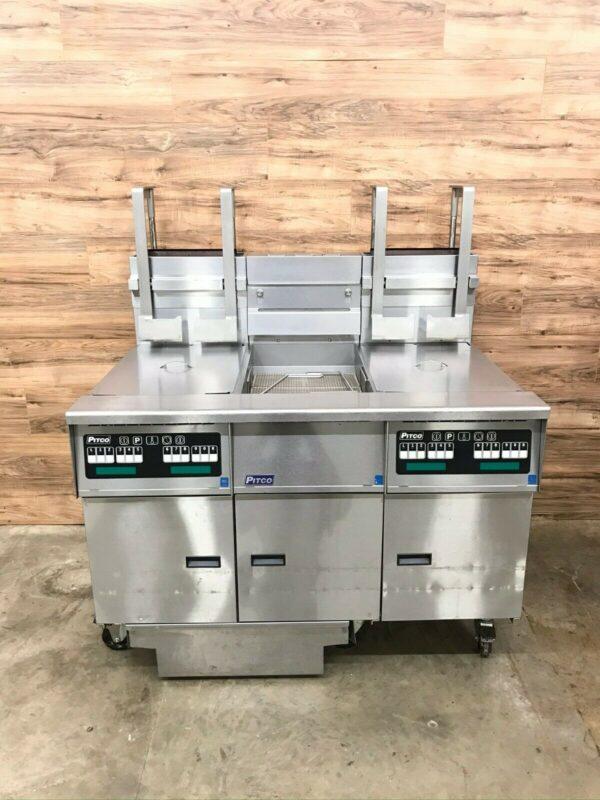 Pitco SG14-JS Dual Fryer System, Dump Station, Filtration