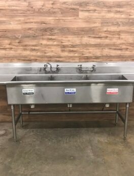 3-Compartment Commercial Sink