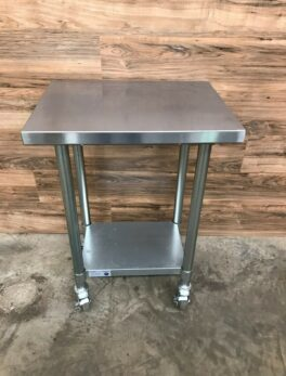 Stainless Steel Work Table w/ Casters