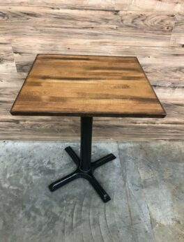 Premium Solid Wood Butcher Block Square Restaurant Table