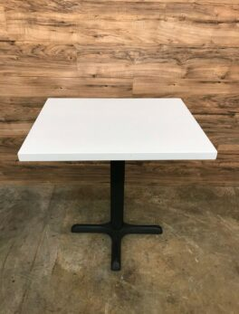 Restaurant/Cafe Style Square Table, White