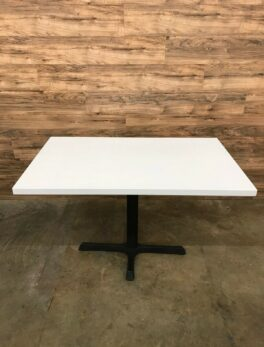 Restaurant Style Rectangular Table, White
