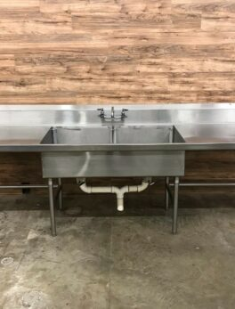 2-Compartment Commercial Prep Sink/Table
