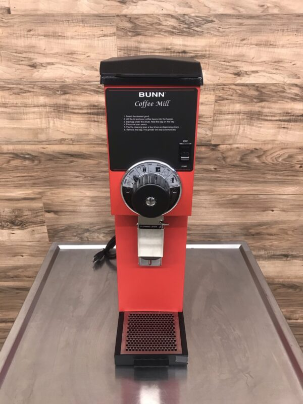 Bunn Bulk 3lb Coffee Grinder, Red