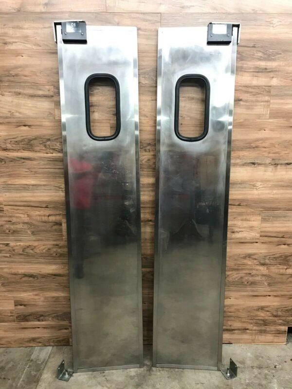 Double Stainless Steel Swinging Traffic Door Set