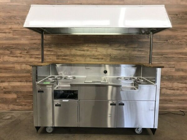 Beverage / Juice / Smoothie Cart w/ Sink & Pump