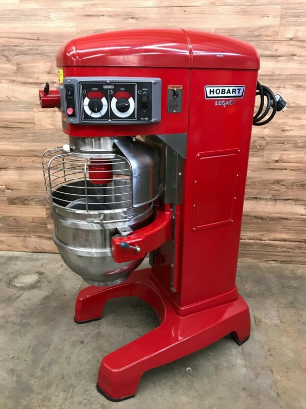 Hobart Legacy HL662 60 Quart Commercial Red Planetary Pizza Mixer
