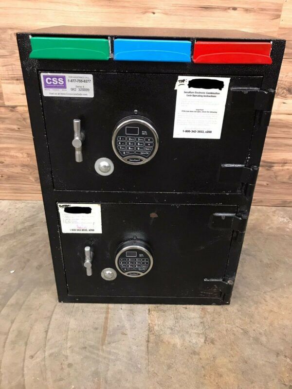 CSS Fire King B1512WD-SG6120 Safe with Drop Slots, Black