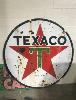 Original Porcelain TEXACO GAS Sign Collectors Item