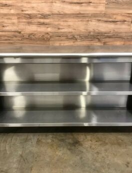 R-S Equipment Stainless Steel Cabinet w/ 1 Mid-Shelf