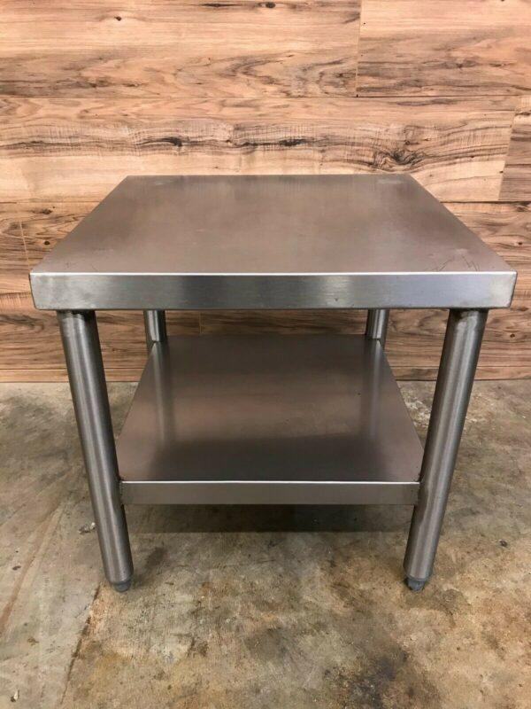 "Stainless Steel Equipment Stand w/ Undershelf, 20"" W x 20"" D x 20"" H"