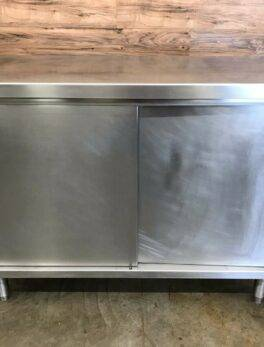 Stainless Steel Cabinet with Sliding Doors