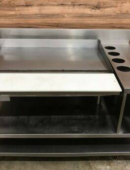 Vulcan 948R Flat Griddle (Natural Gas) on Equipment Stand / Storage Bin