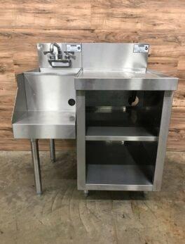 Krowne KR18-S18 Underbar Workstation with Open Storage Cabinet w/ KR18-12BD Sink