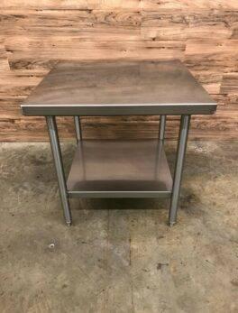 "Stainless Steel Equipment Stand w/ Undershelf, 30"" x 30"" x 30"", 14 Gauge"